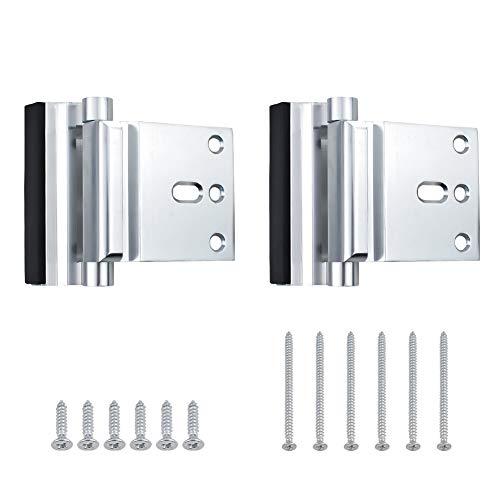 INCREWAY Tür-Verstärkungsschlösser, 2 Stück, Aluminiumlegierung, Sicherheitstürschloss, kindersichere Türverstärkung, widersteht bis zu 362,9 kg (Silber)