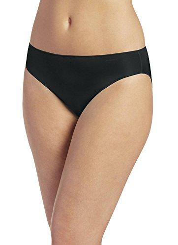 Jockey Women's Underwear No Panty Line Promise Tactel Bikini, Black, 7