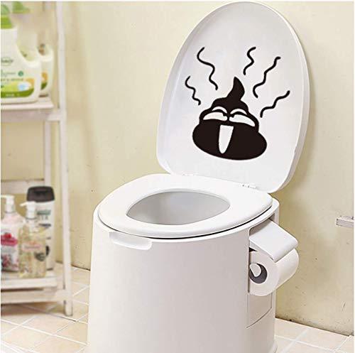 STPillow Wandsticker - grappige toilet muursticker Home Decor Decals waterdichte sticker Neem afscheid met kruk badkamer wc decor