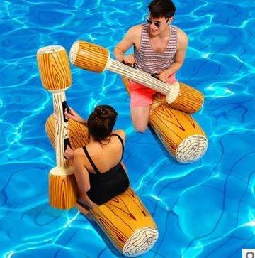 Canoa Inflable Deportes acuáticos Juguetes Flotador Barco Juego Swim Log Stick para Piscinas 4 Unids/Set
