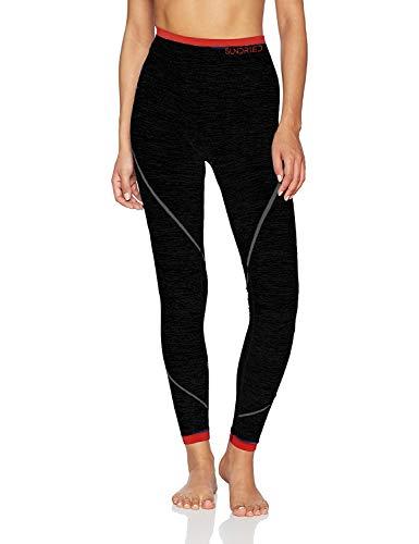 Sundried Frauen Sport-Gymnastik-Gamaschen Premium-Sport Stoff Designer Fitness Tights Yoga-Gymnastik-Training (Schwarz, S)