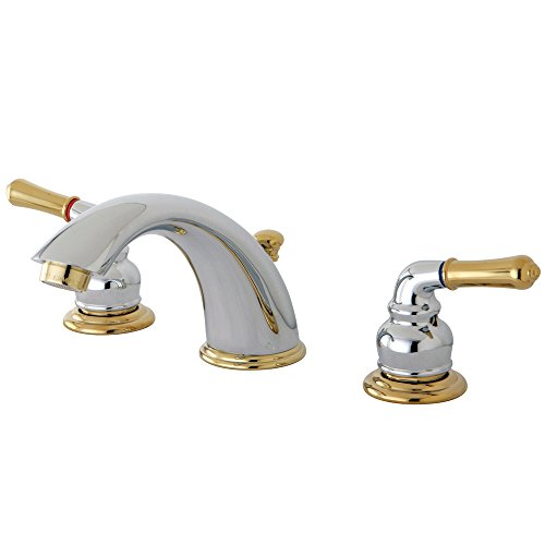 Elements of Design Magellan EB964 Widespread Lavatory Faucet 8-Inch to 16-Inch Centers, Polished Chrome/Brass