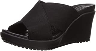 Crocs Womens Leigh Ii Cross-Strap Wedge