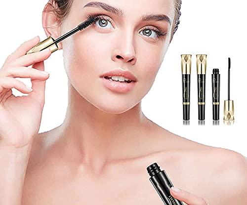 2021 Crown Mascara, 4d Silk Fiber Lash Mascara, Mascara De Maquillaje De Pestañas Rizadoras Largas A Prueba De Agua, Extensiones Naturales Y Duraderas