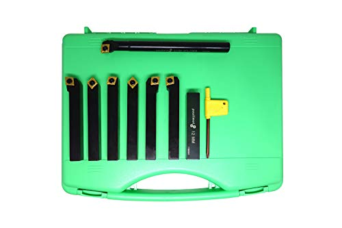 PAULIMOT Drehmeißel-Set mit Wendeplatten, 12 mm, 7-teilig inkl. Bohrstange