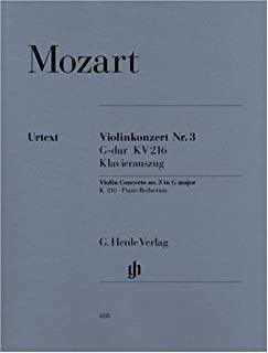 Violin Concerto no. 3 G major KV 216 - violin and orchestra - piano reduction with solo part - (HN 688)