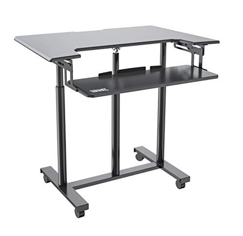 Duronic Sit-Stand Trolley Desk DM03ST1 | Standing...