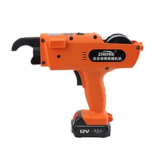 1500 mAh Akku - Drahtbindemaschine Bewehrungsbindegerät + Zubehör 8-34mm 12V, Orange