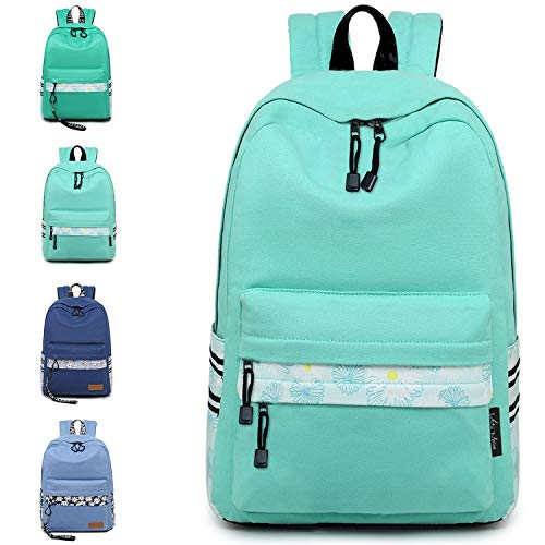 VentoMarea Lightweight Canvas Teen Girls Backpacks College High School Bookbag Casual Travel Laptop Daypack
