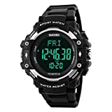 TONSHEN Fitness Sport Orologio Digitale Cardiofrequenzimetro 50M Waterproof LED Display Militare...