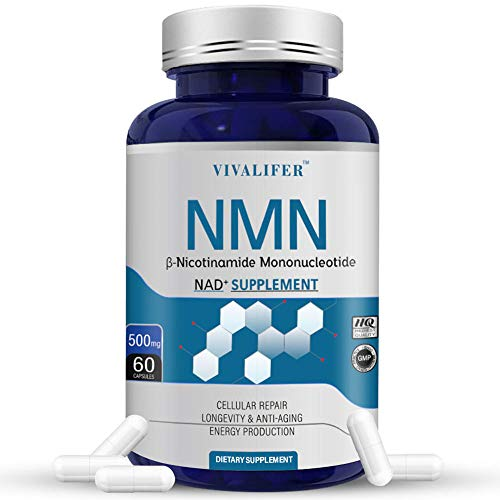 41sScHSs2WL - NMN Supplement, 500MG Nicotinamide Mononucleotide Capsules for Supports Anti-Aging, Longevity and Energy, Naturally Boost NAD+ Levels (NMN 60PCS)