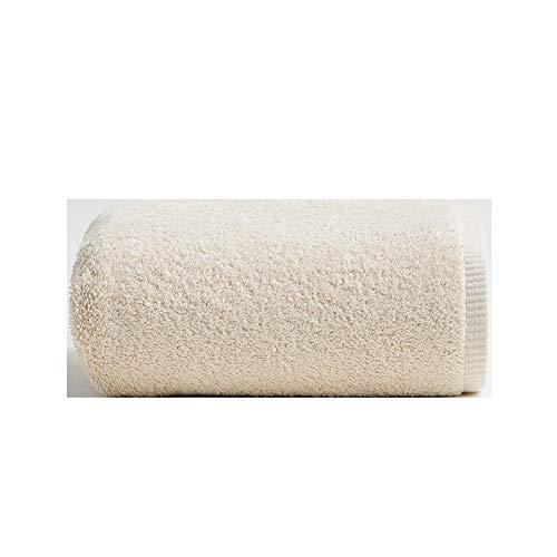 NAFE Gran Hoja de baño 100% Algodón - Multiuso para el baño, Hotel, Gimnasio, SPA y Playa, 100% algodón, de Alta Absorbente (27.5x55.1 英寸) Beige