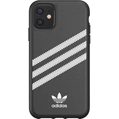 adidas Originals Schutzhülle, kompatibel mit iPhone 11, Schutzhülle für Telefon aus TPU mit DREI Streifen – Schwarz/Weiß