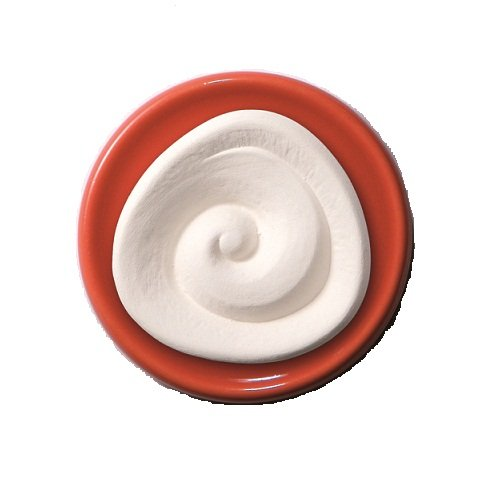 Duftstein Spirale mit orange-rotem Unterteller