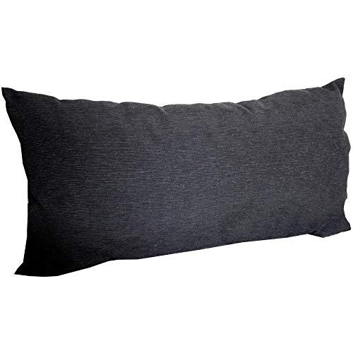 Beo Kissen 60x30 cm | Anthrazit | Made in EU | Atmungsaktiv, UV-beständig und pflegeleicht | Dekokissen mit Füllung und Kissenbezug | Sofakissen | Zierkissen | Couchkissen