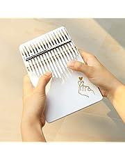 OriGlam 17 toetsen duim piano vinger piano handpiano, houten vinger piano met stemhamer & bescherm tas, gemakkelijk te leren voor kinderen volwassen beginners