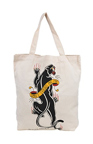Nook Art Cute Retro Black PANTHER Canvas TASCHE/Bag Rockabilly