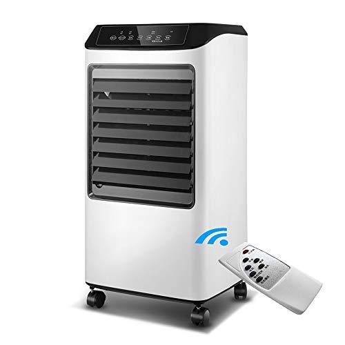 X-J Climatiseur Portable Heizung und Lüfter, Fernbedienung Timing-Wasser Hinzufügen Haushaltskühlventilator, Heizlüfter, Luftreiniger Luftbefeuchter, for Büro Climatiseur Portable 3 en 1