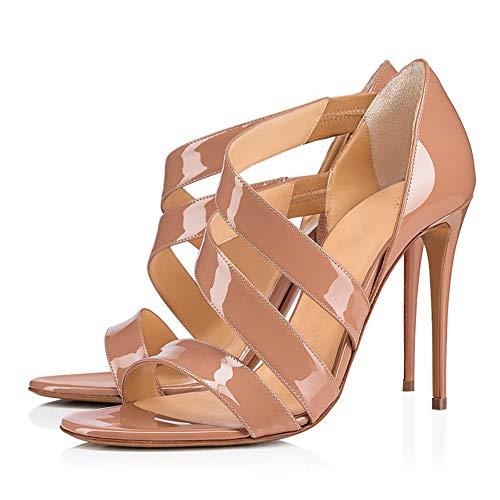 WMZQW Zapatos de Tacón Mujer Sexy Sandalias Moda Puntiagudas Tacón de Aguja...