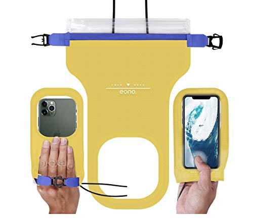 Eono Essentials Universal Waterproof funda para teléfono (Amarillo)