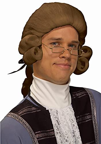 Forum Novelties Men's Colonial Costume Wig, Brown, One Size