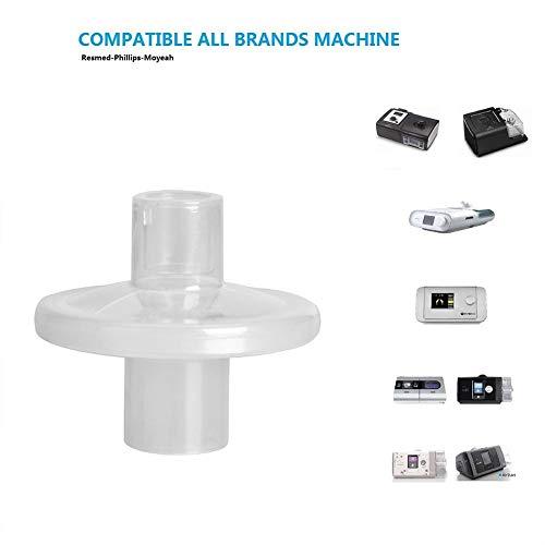 HFXLH Filtro de línea Universal para bacterias-Virus Virus de CPAP y BiPAP máquina y el Aire alérgenos, Filtro Nariz Artificial a la anestesia de respiración de Filtro