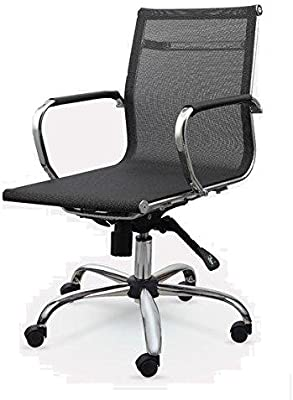 Winport Furniture Mesh 7712 Office Conference & Desk Chair, Single Stack, Black