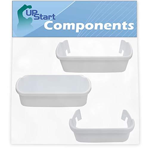 240323001 & 240356401 Refrigerator Door Bin & 240351601 Freezer Door Bin Side Shelf Replacement for Frigidaire FFUS2613LS2 - Compatible 240323001, 240356401 & 240351601 White Door Bin