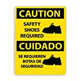 Se requieren zapatos de seguridad, señal de tráfico Señal de tráfico Señal comercial