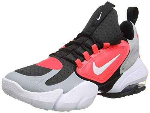 Nike Air MAX Alpha Savage, Zapatillas Deportivas Hombre, Wolf Grey White Laser Crimson Anthracite, 42.5 EU