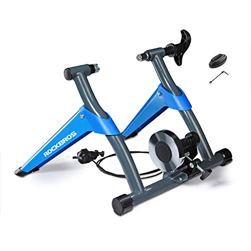 PeiQiH Bike Trainer Stand,Foldable Portable Indoor Trainer W Magnetic Flywheel,Noise Reduction,Stationary Exercise Bike for Road Mountain Bike Blue Load Capacity 130kg