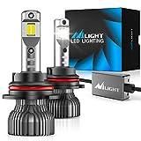 Nilight 9004/HB1 LED Headlight Bulbs, 70w 14000lm 9004 Hi/Lo Beam LED Headlight Bulb 6500k 9004 LED Bulb Cool White IP67