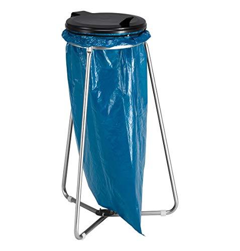 Stabiler Müllhalter Müllsackständer mit Deckel für Müllsäcke bis 120 Liter, Stahl