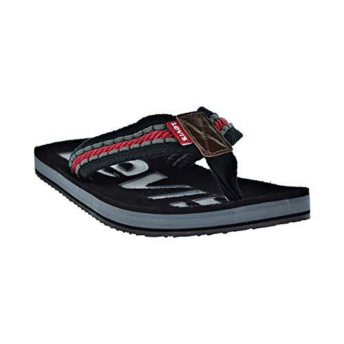 Levi's Mens Kyle Casual J Sandals in Black/Grey/Red 10 US