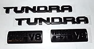 OEM TOYOTA TUNDRA BLACK-OUT SOLID EMBLEM SET OF 4 75471-0C160 (NOT OVERLAYS) WITHOUT 4X4
