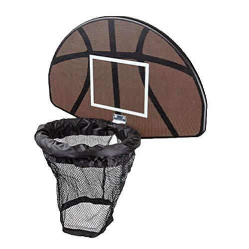 Universal Design Durable Use Trampoline Basketball Hoop Ring Backboard Ball Set Basketball Hoop Supplies Freeday-uk
