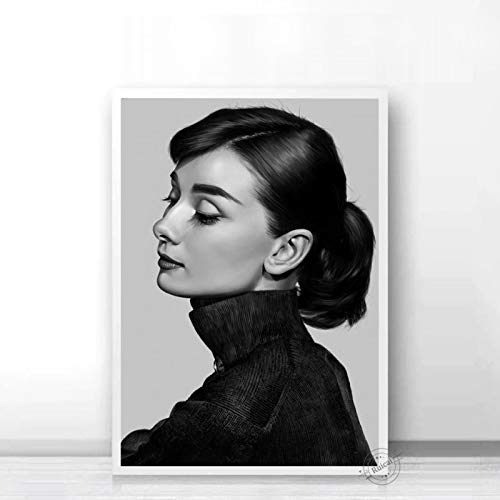 Audrey Hepburn Poster Movie Star Prints Nordic Black White Wall Art Canvas Painting Wall Pictures For Living Room Home Decor b29 50X70cm
