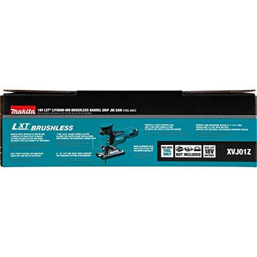 Product Image 9: Makita XVJ01Z 18V LXT Brushless Barrel Grip Jig Saw