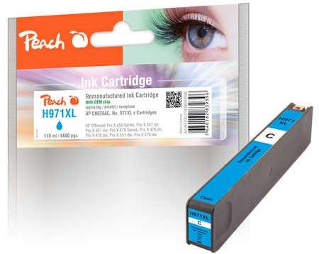 Peach Tintenpatrone cyan HC kompatibel zu HP No. 971XL, CN626AE
