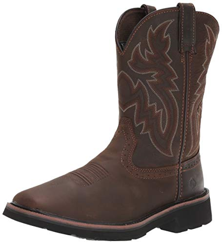 WOLVERINE Men's Rancher Square Soft Toe Work Boot,