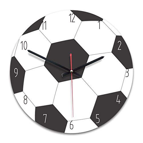 Windy5 Rotonda Orologio da Parete Senza Numeri Basket Calcio Baseball Sport Style Clock for Boys Room Decoration