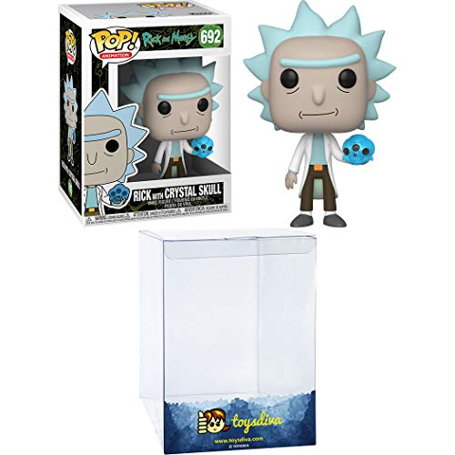 Rick with Crystal Skull: Funko Pop! Animation Vinyl Figure Bundle with 1 Compatible 'ToysDiva' Graphic Protector (692 - 45438 - B)