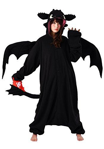 SAZAC Kigurumi - How to Train Your Dragon - Toothless - Onesie Halloween Costume - Adult