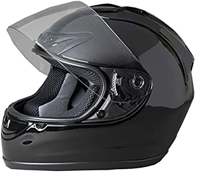 Fuel Helmets SH-FF0015 Unisex-Adult Full Face Helmet (Gloss Black, Medium)