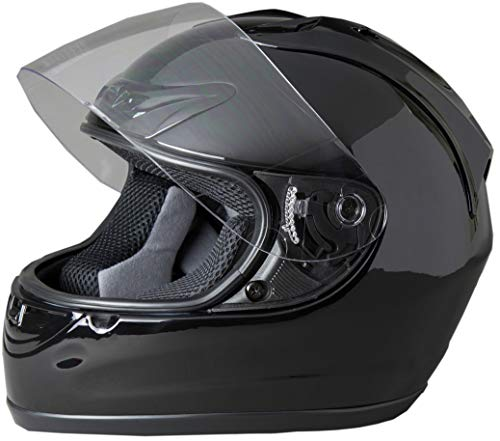 Fuel Helmets SH-FF0016 Unisex-Adult Full Face Helmet (Gloss Black, Large)