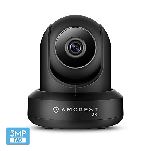 Amcrest UltraHD 2K WiFi Camera 3MP (2304TVL) Dualband 5ghz / 2.4ghz Indoor IP3M-941B (Negro)