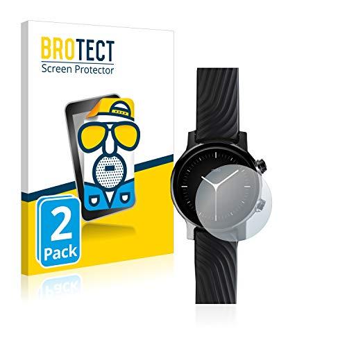 BROTECT 2X Entspiegelungs-Schutzfolie kompatibel mit Motorola Moto 360 (3. Generation) Bildschirmschutz-Folie Matt, Anti-Reflex, Anti-Fingerprint