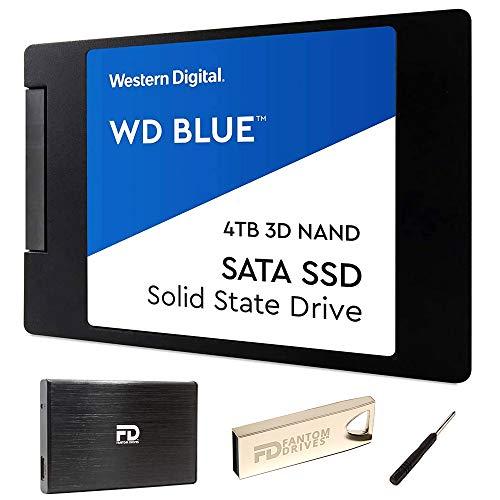 4TB 2.5' SSD 3D TLC NAND Internal Solid State Drive Upgrade Kit with WD Blue WDS400T2B0A