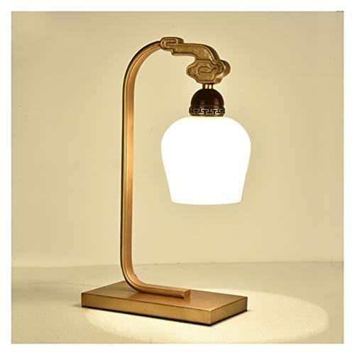 Lámpara de escritorio para sala de oficina Inicio Tabla rústica lámpara de la lámpara de cabecera Altura 19,7 pulgadas, 10.2inch longitud, 12 pulgadas de ancho con Latón Acabado y Negro pantalla de la