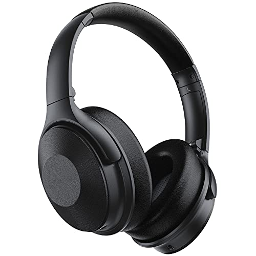 Auriculares con reducción de ruido activa, carga rápida, 45 hrs inalámbricos 5.0, auriculares intraurales con micrófono, estéreo HiFi, auriculares inalámbricos ajustables para niños, oficina en casa